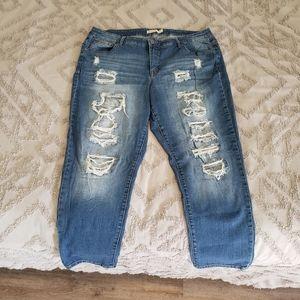Ripped Skinny Jeans Sz. 20W